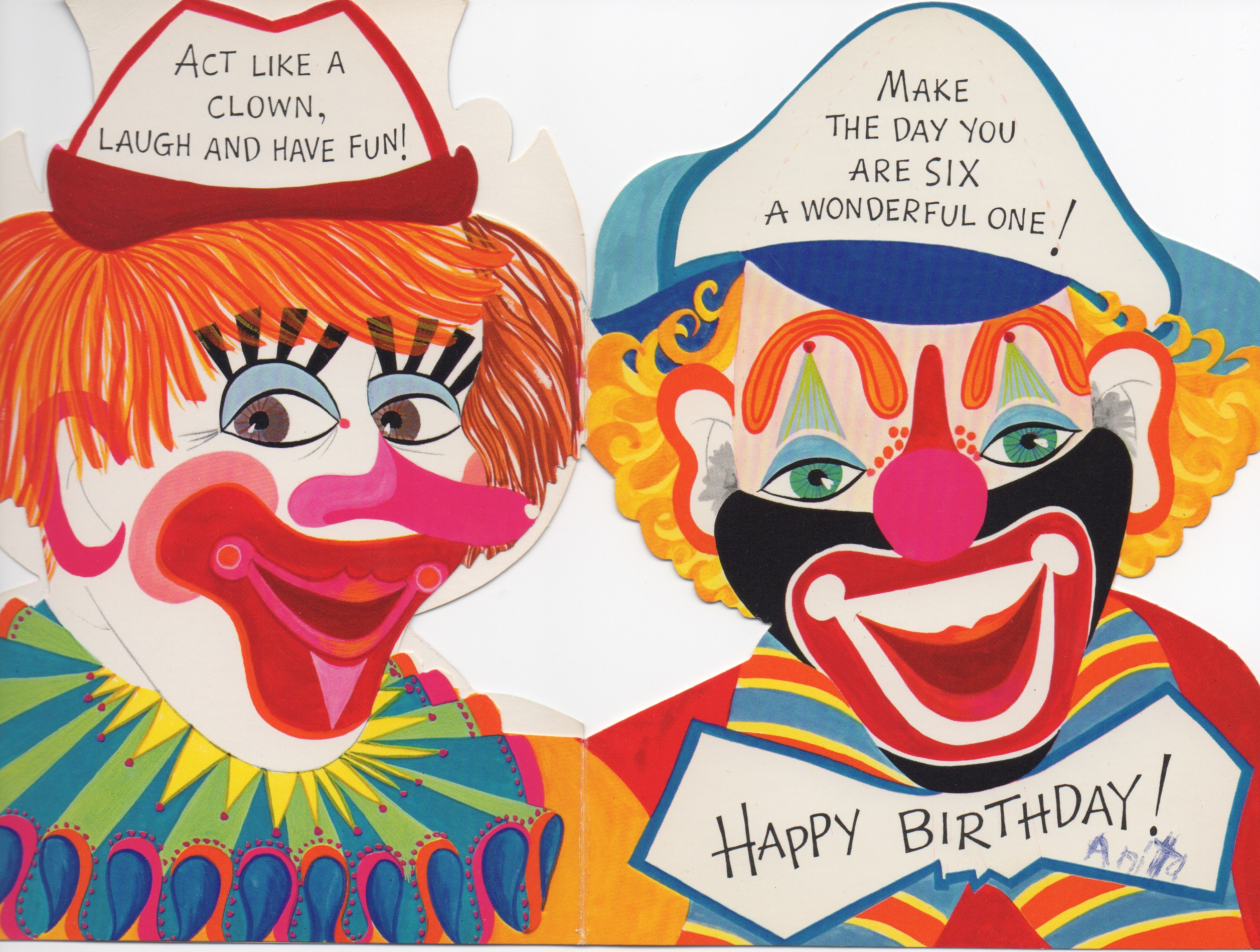 The Clown Menace – Clown Birthday Cards
