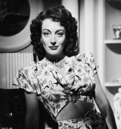 "Joan Crawford in the film, ""Mildred Pierce."""