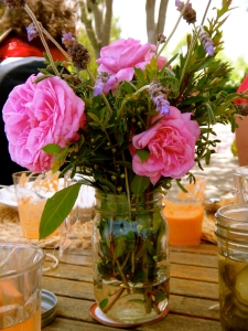 Marveled at the beauty of floral centerpieces.