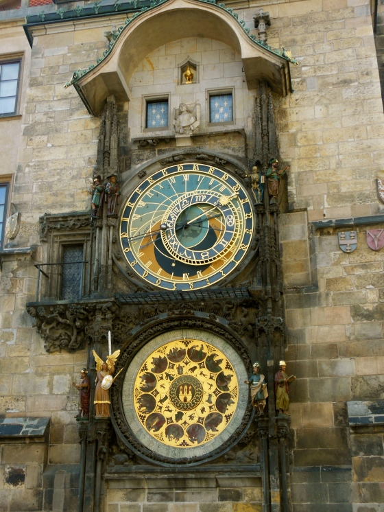 Here's one of many photos I took last year while visiting Prague of the astronomical clock. It's a beaut!