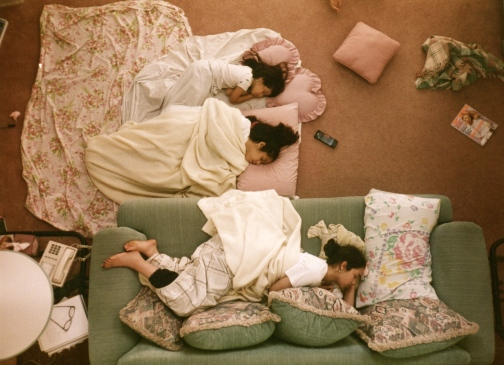 Cousins napping, circa early 1990s.
