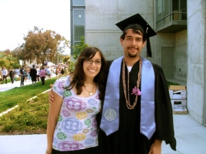 My children at my son's graduation.