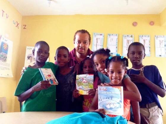 Dr. Bruce traveled to the Dominican Republic to help youth improve literacy skills.