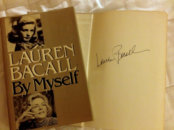Many years ago, I stood in line just so I could meet Lauren Bacall and have her sign my copy of her then newly-released memoir. She was as breathtaking and captivating as she was on the Silver Screen. What a woman!