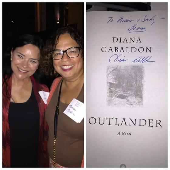 I met Diana Gabaldon and she was nice! Her