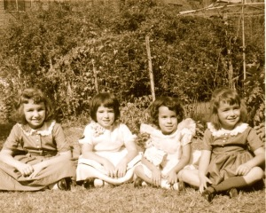All dressed up and nowhere to go. That's me, second from right, celebrating my birthday, circa 1960.