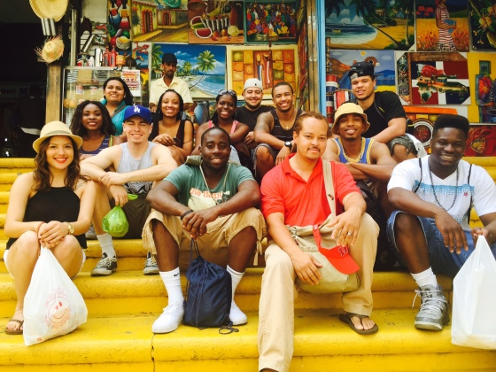 Dr. Aaron Bruce, second from right, this summer took a group of students to the Dominican Republic.