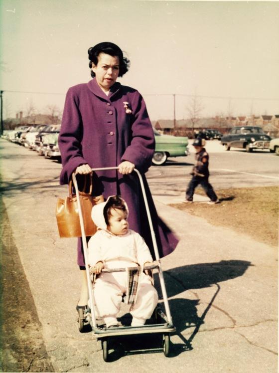 Infant Monica & Mama
